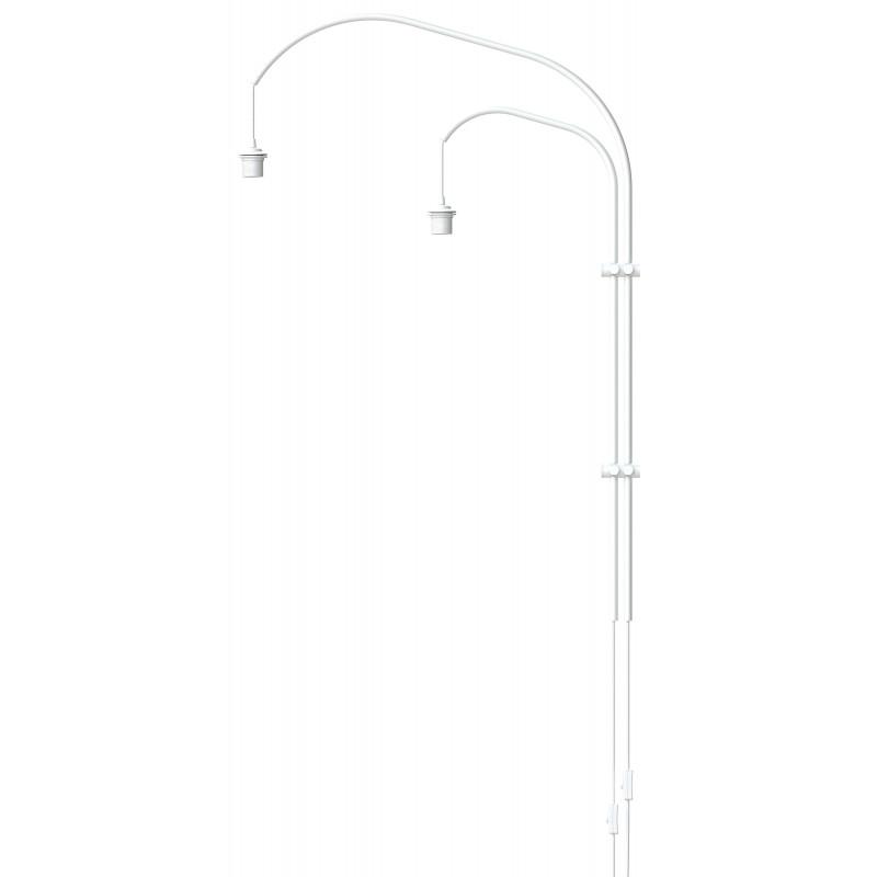 Podwójne ramię do lampy ściennej Willow double UMAGE (VITA Copenhagen) - białe