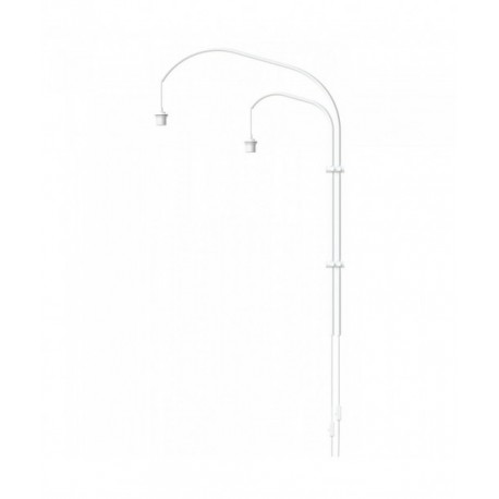 Wall lamp double arm Willow double UMAGE (VITA Copenhagen) - white