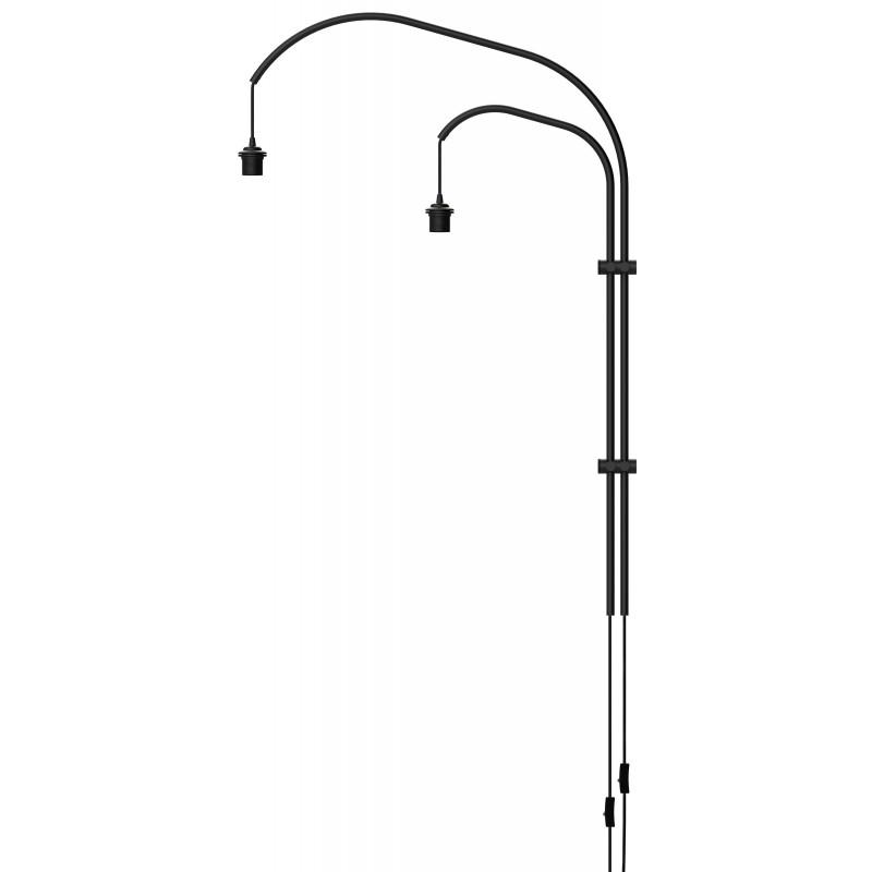 Wall lamp double arm Willow double UMAGE (VITA Copenhagen) - black