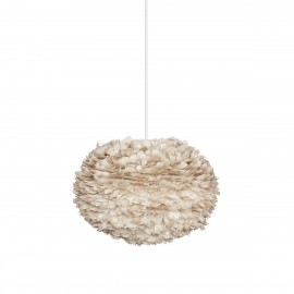 Light brown lamp with feathers Eos Large Light Brown UMAGE (VITA Copenhagen)