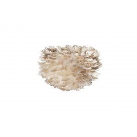Light grey lamp with feathers Eos micro light brown UMAGE (VITA Copenhagen)