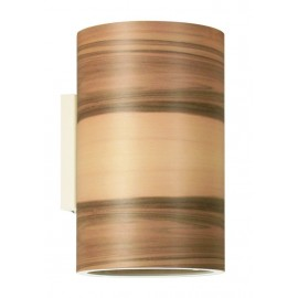 Wall lamp FUNK 16 / 26W Dreizehngrad walnut satin - diameter 16 cm