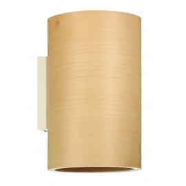 Wall lamp FUNK 16 / 26W Dreizehngrad maple - diameter 16 cm