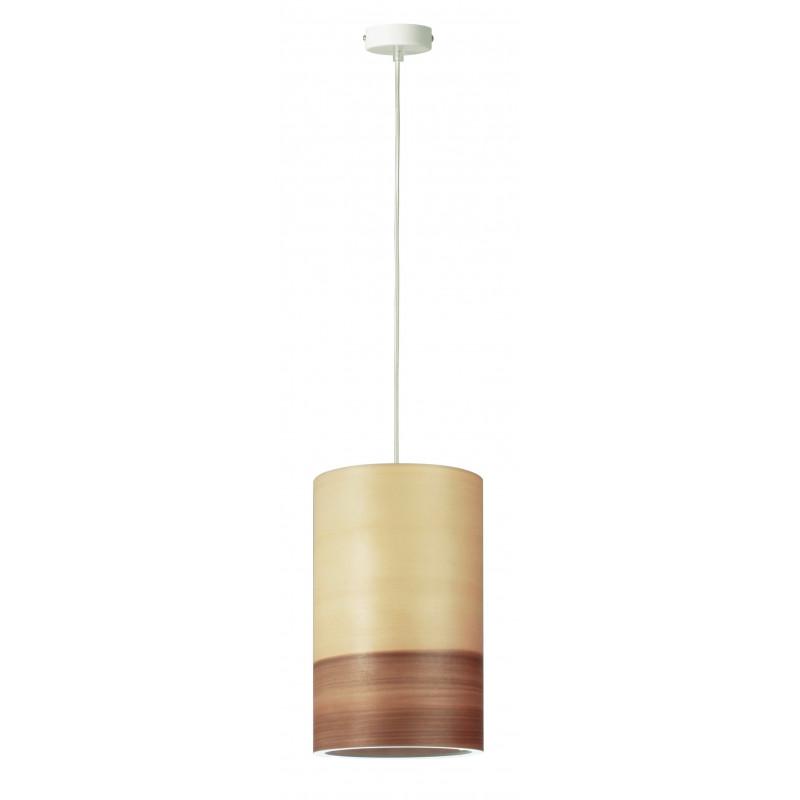 Pendant lamp FUNK 16/26P Dreizehngrad walnut satin - diameter 16 cm