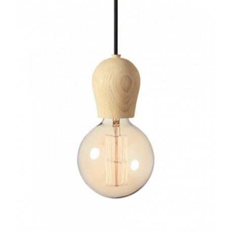Bright Sprout Nordic Tales lamp - oak protected with soap + black cord