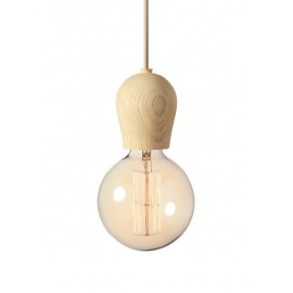 Bright Sprout Nordic Tales lamp - oak protected with soap + creamy cord