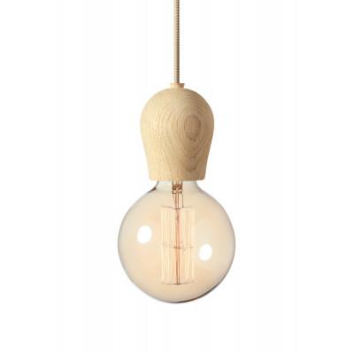 Lampa Bright Sprout Nordic Tales - dąb zabezpieczany mydłem + przewód crema