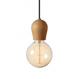 Bright Sprout Nordic Tales Lamp - oiled oak + black cord