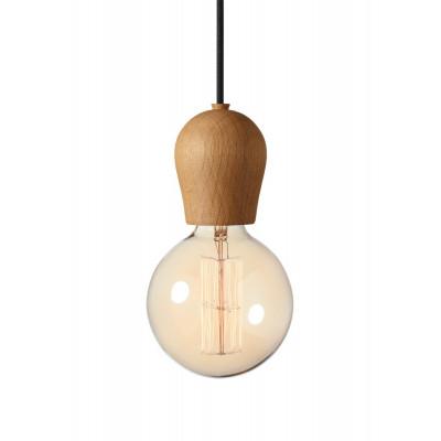 Lampa Bright Sprout Nordic Tales - dąb olejowany + czarny przewód