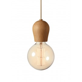 Bright Sprout Nordic Tales Lamp - oiled oak + crema cord