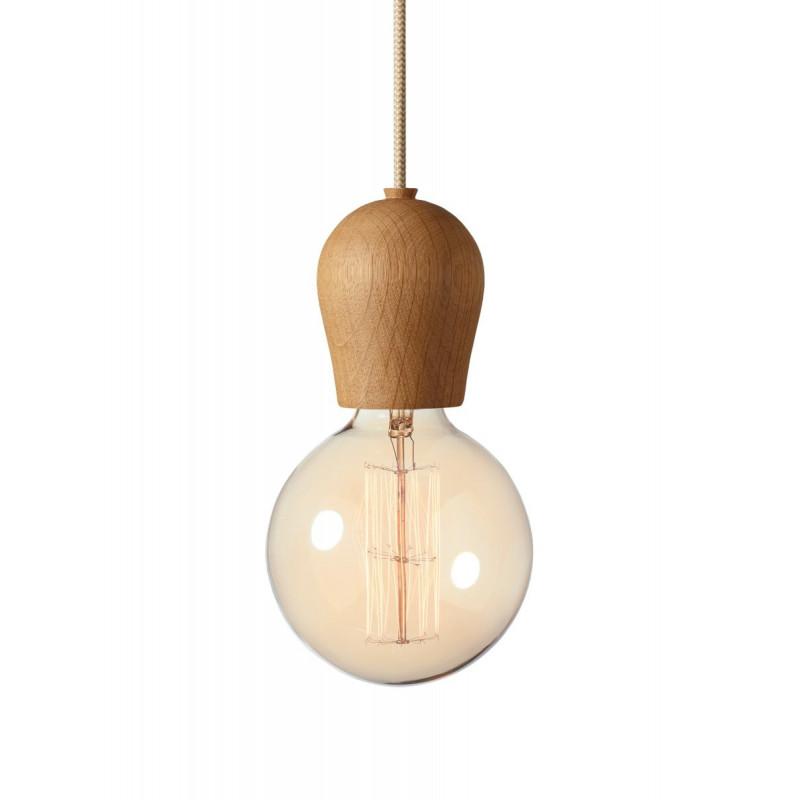 Bright Sprout Nordic Tales Lamp - oiled oak + crema cord