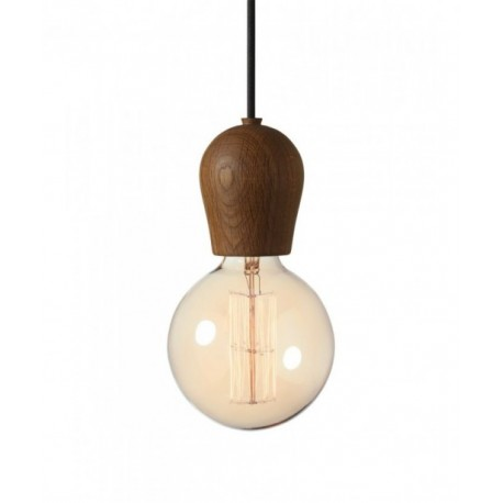 Bright Sprout Nordic Tales Lamp - smoked oak + black cord