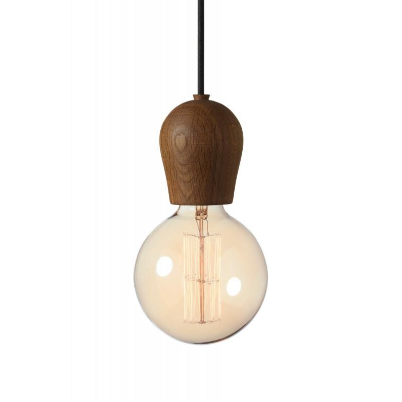 Lampa Bright Sprout Nordic Tales - dąb przydymiony + czarny przewód