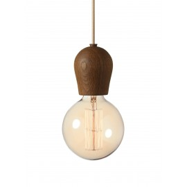 Bright Sprout Nordic Tales Lamp - smoked oak + crema cord