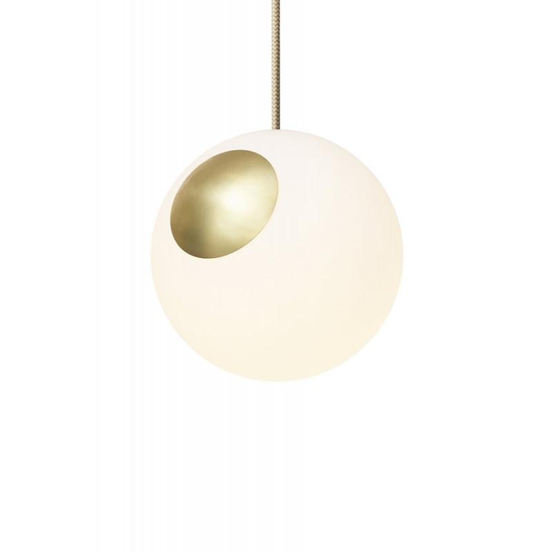 Pendant lamp Bright Spot Brass  Nordic Tales  - brass + creamy wire