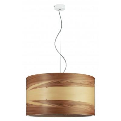Pendant lamp FUNK 40/22P Dreizehngrad walnut satin - diameter 40 cm