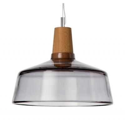 Lampa INDUSTRIAL 26/14P z antracytowego szkła Dreizehngrad - średnica 26 cm