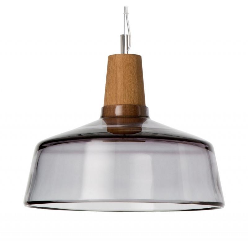 Lamp INDUSTRIAL 26/14P anthracite glass Dreizehngrad - diameter 26 cm