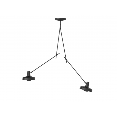 Ceiling Lamp ARIGATO CEILING 2 LONG Grupa Products - black