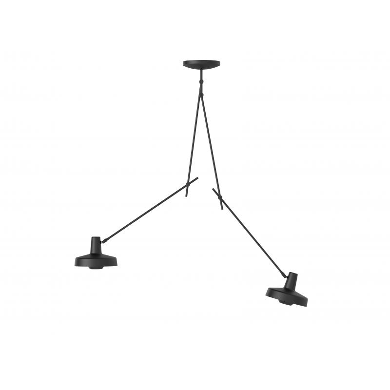 Lampa sufitowa ARIGATO CEILING 2 LONG Grupa Products - wydłużona, czarna