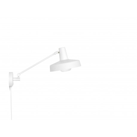 Wall lamp ARIGATO WALL SHORT Grupa Products - short, white, detachable cable