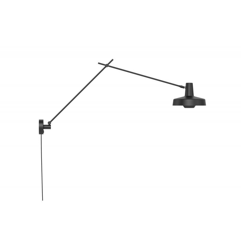 Kinkiet ARIGATO WALL LONG Grupa Products - wydłużony, czarny, odłączany przewód