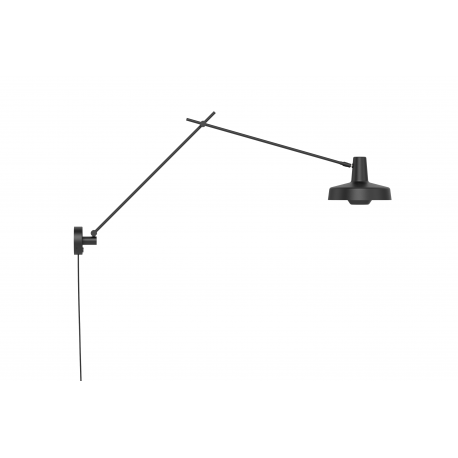 Wall lamp ARIGATO WALL LONG Group Products - elongated, black, detachable cable