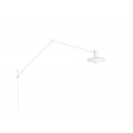 Wall lamp ARIGATO WALL LONG Grupa Products - elongated, white, detachable cable