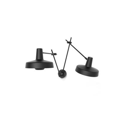 Kinkiet ARIGATO DOUBLE WALL Grupa Products - czarny, odłączany przewód
