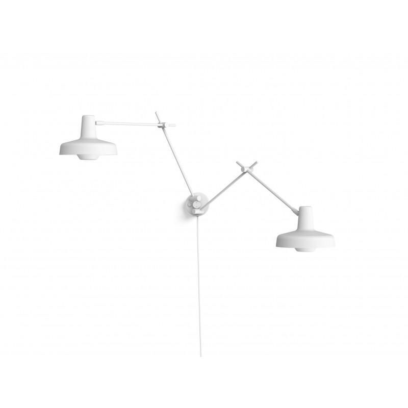 Kinkiet ARIGATO DOUBLE WALL Grupa Products - biały, odłączany przewód