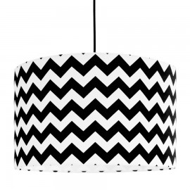 Black Chevron lampshade Ø40cm