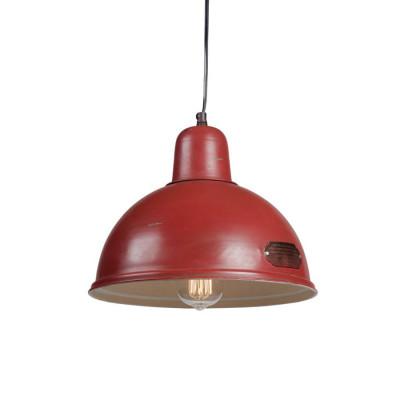 Industrialna lampa wisząca Indica 31 cm Red LOFTLIGHT – czerwona