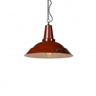 Industrialna lampa wisząca Kapito 36 cm Red LOFTLIGHT – czerwona