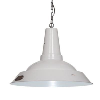 Industrialna lampa wisząca Kapito 48 cm White LOFTLIGHT – biała