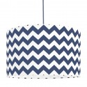 Lampshade chevron dark blue diameter 38cm collection New York youngDECO