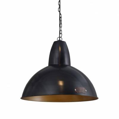 Industrialna lampa wisząca Salina 46 cm Black LOFTLIGHT – czarna