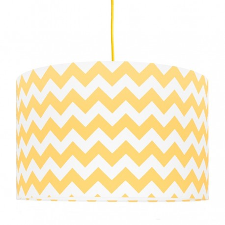 Yellow Chevron lampshade Ø40cm
