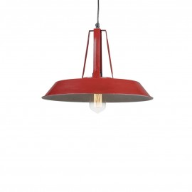 Industrial pendant lamp Tarta M Red LOFTLIGHT