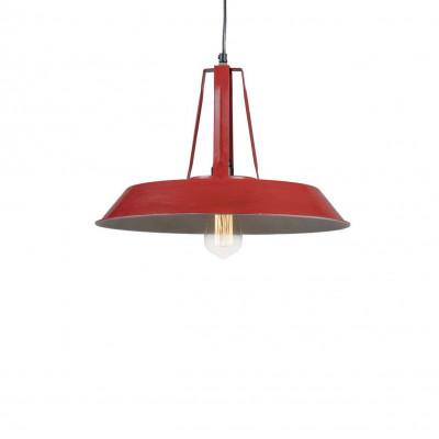 Industrialna lampa wisząca Tarta M Red LOFTLIGHT – czerwona