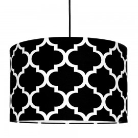 Black Moroccan Clover Lampshade Ø40cm