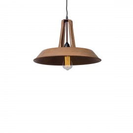 Industrial pendant lamp Tarta M Rusty Brown LOFTLIGHT