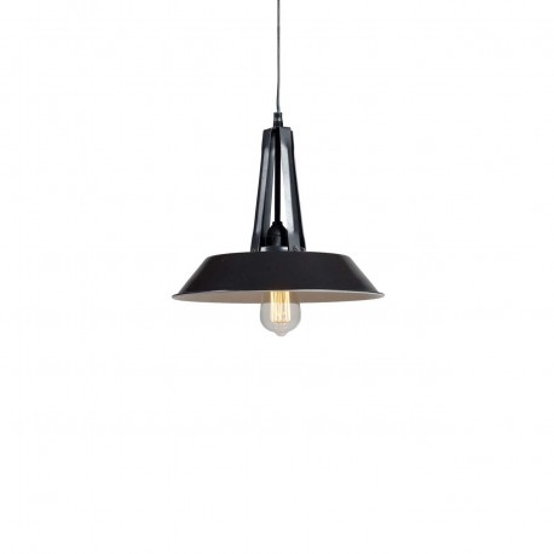 Industrialna lampa wisząca Tarta S Black LOFTLIGHT – czarna