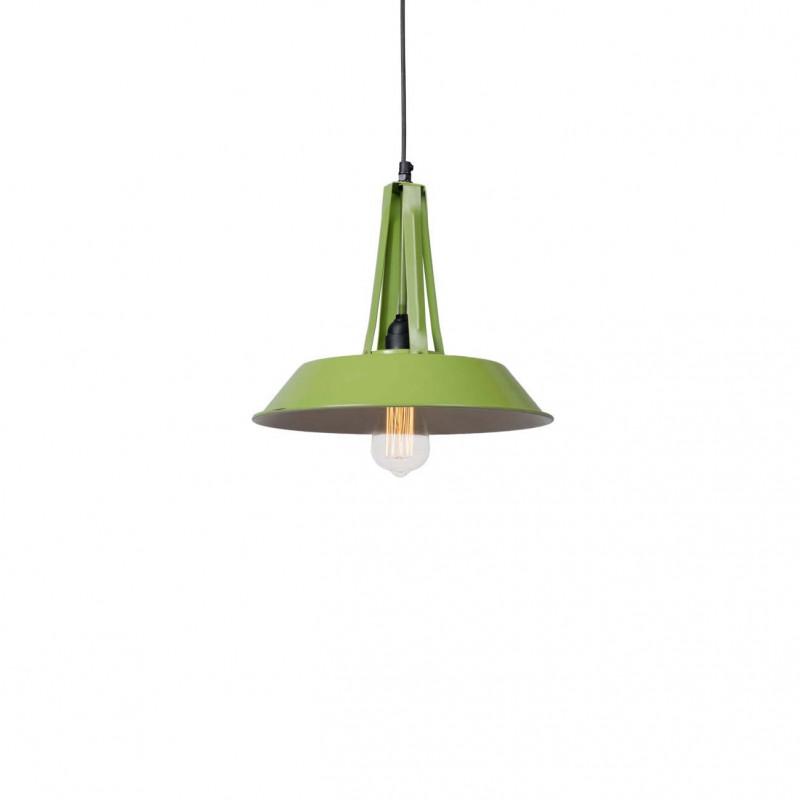 Industrialna lampa wisząca Tarta S Green LOFTLIGHT – zielona