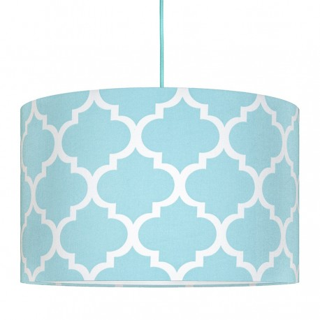 Turquoise Moroccan Clover Lampshade Ø40cm