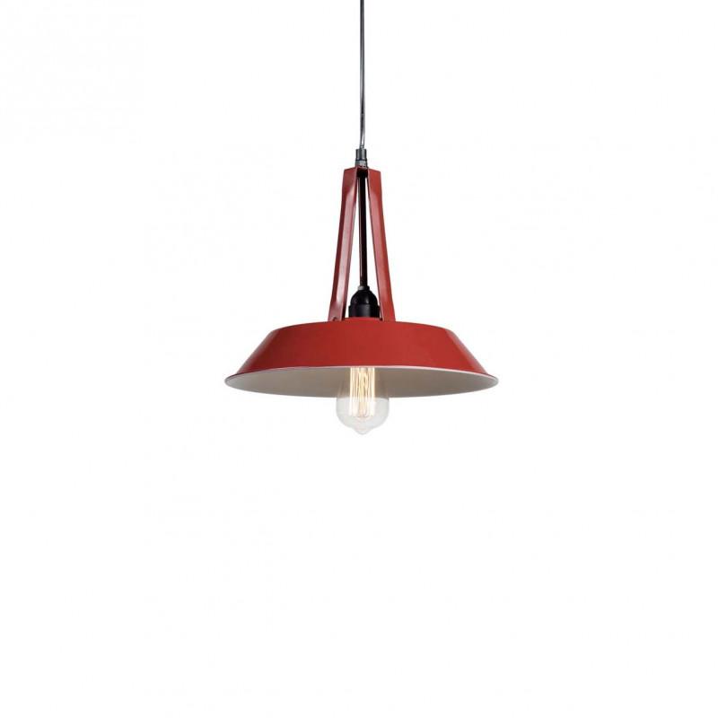 Industrial pendant lamp Tarta S Red LOFTLIGHT
