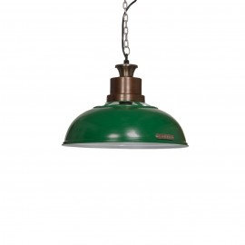 Industrial pendant lamp Verda 36 cm Green LOFTLIGHT - green