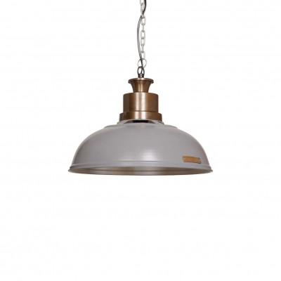 Industrialna lampa wisząca Verda 36 cm Light Grey LOFTLIGHT – szara