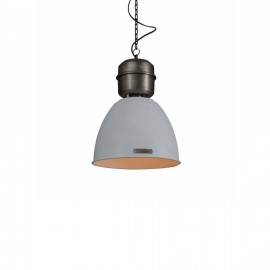 Industrial pendant lamp Voltera 32 cm - White / Nickel - LOFTLIGHT