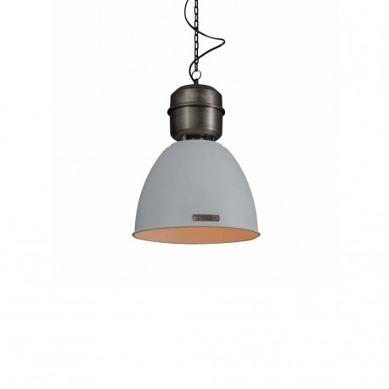 Industrialna lampa wisząca Voltera 32 cm - White / Nickel - LOFTLIGHT