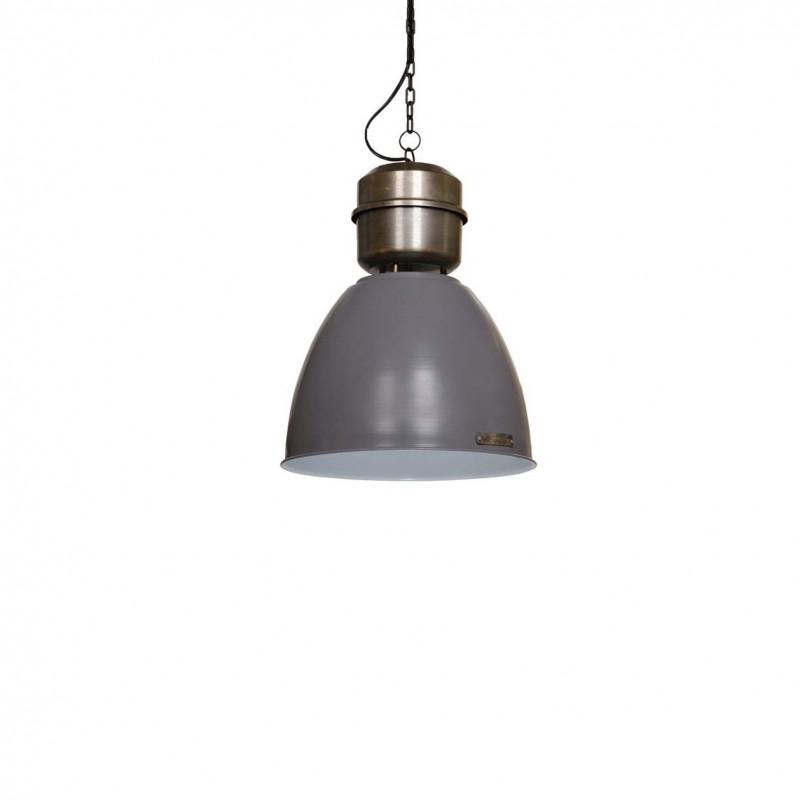 Industrialna lampa wisząca Voltera 32 cm Matt Grey / Dark Nickel LOFTLIGHT – szary mat
